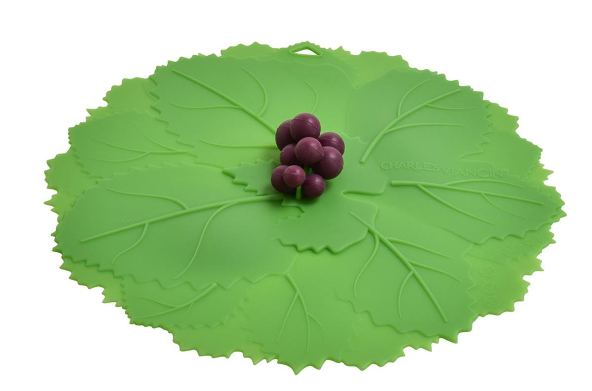Крышка Charles Viancin Grape, цвет: зеленый. Диаметр 20 см1206Крышка герметична, привлекательна по дизайну и функциональна. Ее можно использовать в процессе приготовления пищи на плите, в микроволновой печи и в духовом шкафу. Подходит для посудомоечной машины. Можно использовать в холодильнике. Закроет любую емкость с гладким ободом.