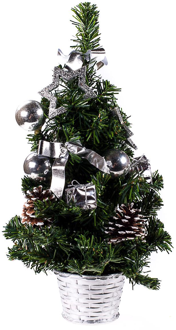 Елка настольная c игрушками Vita Pelle, 50 см. K11EL5096K11EL5096Милая наряженная елочка в корзинке украшена игрушками и мишурой. Она будет уместна и дома, и в офисе. Она преобразит пространство, подарив праздник и новогоднее настроение. Небольшой размер елочки позволит разместить ее где угодно.