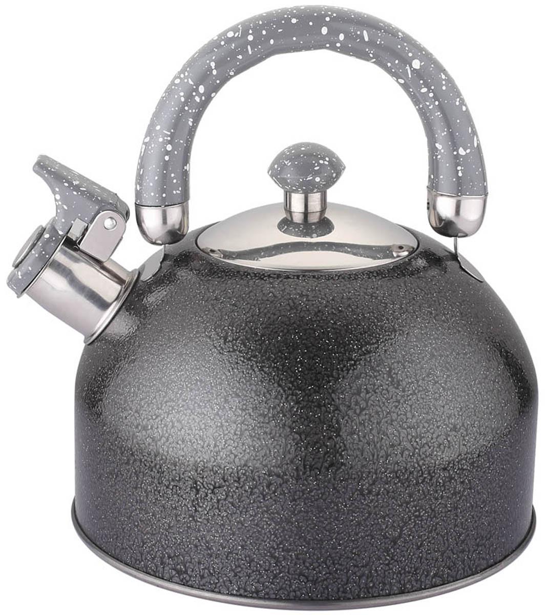"""Чайник """"Appetite"""" изготовлен из высококачественной нержавеющей стали. Нержавеющая сталь обладает высокой устойчивостью к коррозии, не вступает в реакцию с холодными и горячими продуктами и полностью сохраняет их вкусовые качества. Особая конструкция дна способствует высокой теплопроводности и равномерному распределению тепла.  Чайник оснащен удобной пластиковой  ручкой. Носик чайника имеет откидной свисток, звуковой сигнал которого подскажет, когда закипит вода.  Чайник """"Appetite"""" пригоден для использования на всех видах плит."""