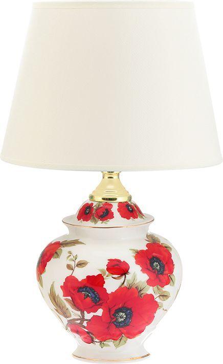 Настольная лампа Elan Gallery Маки, цвет: белый, красный, E27, 13 Вт. 320043320043Настольная лампа Маки 20 х 20 х 31,5 см, с молочным круглым абажуром, основание - фарфорОригинальная настольная лампа с основанием в традиционной коллекции Маки. Предназначен для работы в сети с напряжением 220-230 В. Используются лампы накаливания (40 Вт) и энергосберегающие лампы (9-13 Вт)Размеры: Абажур Диаметр 20 смВысота 14 смЛампа Диаметр 13,5 смВысота 23,5 см