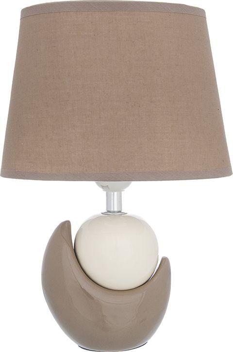 Настольная лампа Elan Gallery Мечта, цвет: бежевый, белый, E27, 13 Вт. 320046320046Настольная лампа Мечта бежевая, с коричневым овальным абажуром, основание - керамика.Светильник в современном стиле на изящной подставке. Станет прекрасным подарком и украситлюбой интерьер! Размеры: Длина 20,5 см Ширина 12 см Высота 30,5 см
