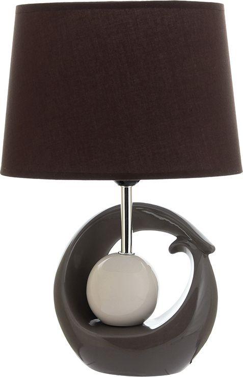 Настольная лампа Elan Gallery Жемчужина, цвет: коричневый, белый, E27, 13 Вт. 320051320051Настольная лампа Жемчужина 28 х 19 х 40 см, с коричневым овальным абажуром, основание - керамикаСветильник в современном стиле на изящной подставке. Станет прекрасным подарком и украсит любой интерьер! Предназначен для работы в сети с напряжением 220-230 В. Используются лампы накаливания (40 Вт) и энергосберегающие лампы (9-13 Вт)Размеры: Абажур Длина 28 смШирина 19 смВысота 18,5 смЛампа Длина 19,5 смШирина 12 смВысота 27 см