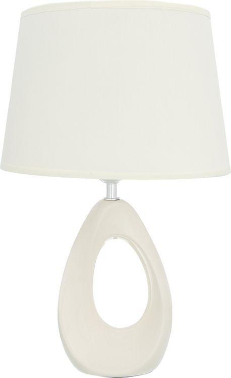 """Настольная лампа Elan Gallery """"Капля"""" с кремовым овальным абажуром - это лампа в современном стиле на изящной подставке. Основание выполнено из керамики.   Такая лампа станет прекрасным подарком и украсит любой интерьер!     Предназначен для работы в сети с напряжением 220-230 В. Используются лампы накаливания (40 Вт) и энергосберегающие лампы (9-13 Вт).     Размеры:  Длина: 26 см.  Ширина: 19 см.  Высота: 40 см."""