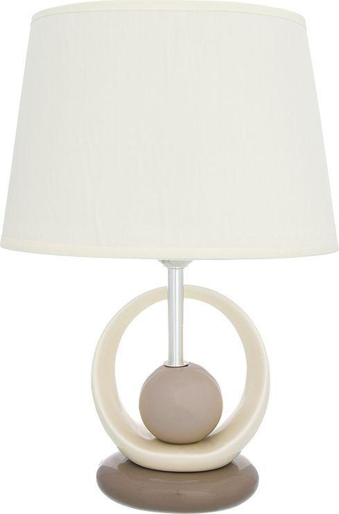 Настольная лампа Elan Gallery Жемчужина, цвет: кремовый, E27, 13 Вт. 320058320058Настольная лампа Жемчужина 26 х 19 х 38 см, с кремовым овальным абажуром, основание - керамикаНастольная лампа в современном стиле на изящной подставке. Станет прекрасным подарком и украсит любой интерьер! Предназначен для работы в сети с напряжением 220-230 В. Используются лампы накаливания (40 Вт) и энергосберегающие лампы (9-13 Вт)Размеры: Длина 26 смШирина 19 смВысота 38 см