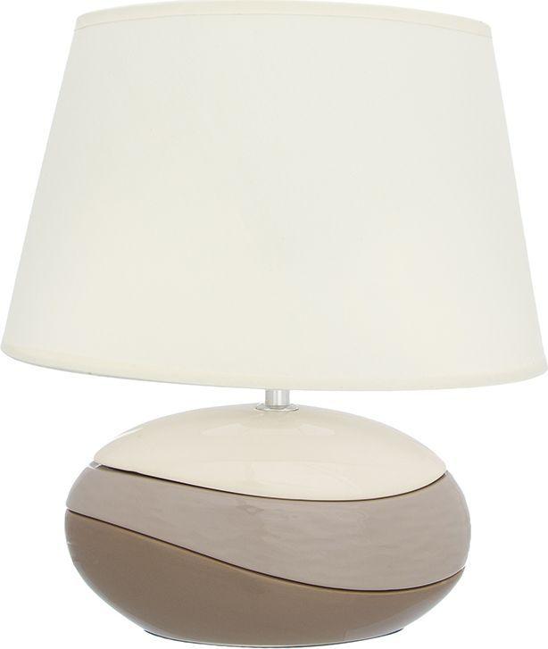 Настольная лампа Elan Gallery Волна, цвет: кремовый, E27, 13 Вт. 320060320060Настольная лампа Волна 31,5 х 20 х 35 см, с кремовым овальным абажуром, основание - керамика Настольная лампа в современном стиле на изящной подставке. Станет прекрасным подарком и украсит любой интерьер! Предназначен для работы в сети с напряжением 220-230 В. Используются лампы накаливания (40 Вт) и энергосберегающие лампы (9-13 Вт) Размеры: Длина 31,5 см Ширина 20 см Высота 35 см