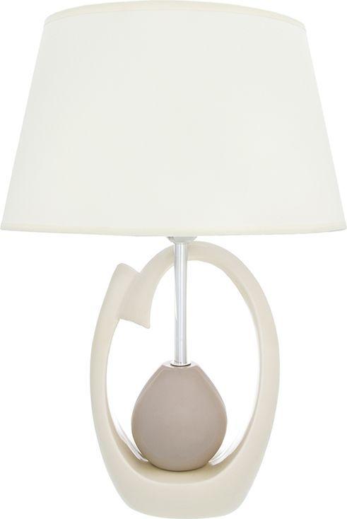 """Настольная лампа """"Грация"""" 33 х 22 х 47 см, с кремовым овальным абажуром, основание - керамика Настольная лампа в современном стиле на изящной подставке. Станет прекрасным подарком и украсит любой интерьер! Предназначен для работы в сети с напряжением 220-230 В. Используются лампы накаливания (40 Вт) и энергосберегающие лампы (9-13 Вт) Размеры: Длина 33 см Ширина 22 см Высота 47 см"""