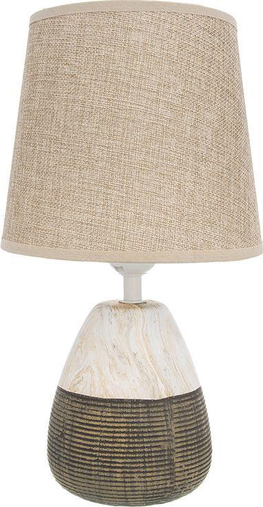 Настольная лампа Elan Gallery Плетенка, цвет: бежевый, E27, 13 Вт. 320064320064Настольная лампа Плетенка 18 х 18 х 32,5 см, с бежевым круглым абажуром, основание - керамика Настольная лампа в современном стиле на изящной подставке. Станет прекрасным подарком и украсит любой интерьер! Предназначен для работы в сети с напряжением 220-230 В. Используются лампы накаливания (40 Вт) и энергосберегающие лампы (9-13 Вт) Размеры: Диаметр 18 см Высота 32,5 см