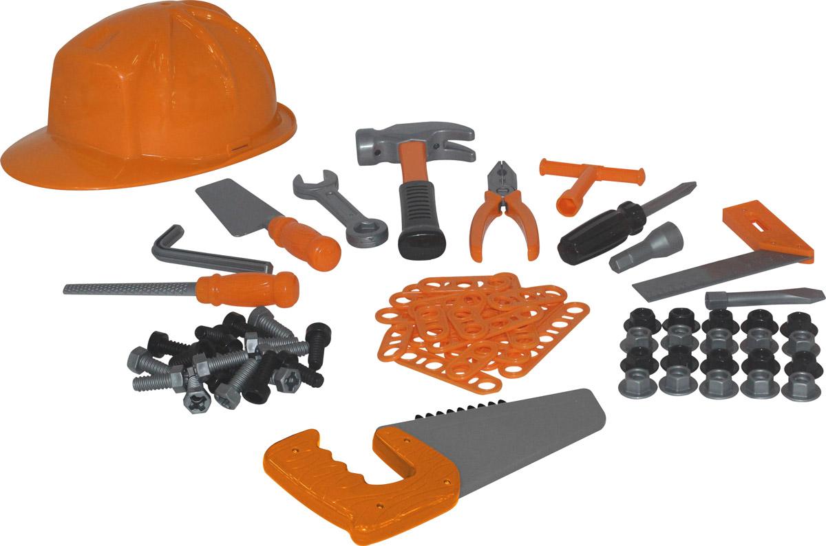 Полесье Игрушечный набор инструментов №8 цвет оранжевый