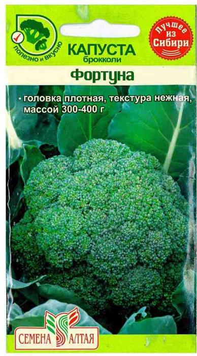 Семена Сортсемовощ Капуста брокколи. Фортуна4601819111695 Уважаемые клиенты! Обращаем ваше внимание на то, что упаковка может иметь несколько видов дизайна. Поставка осуществляется в зависимости от наличия на складе.