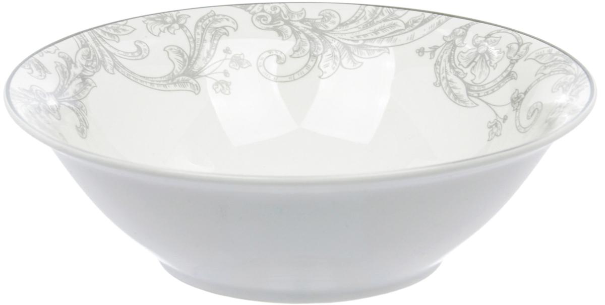 Салатница Dasen Классика, диаметр 14 смDNNB0001-5Фарфор производства Dasen - это достаточно изысканная столовая посуда с качественным белым основанием и круговой деколью весьма тонкой работы. Без сомнения, это посуда премиум-класса, которая имеет свое неповторимое тонкое звучание и любит свет. Подглазурные деколи надежно защищены глазурью, придающей посуде особый блеск, традиционный для костяного фарфора. Посуду Dasen можно использовать в СВЧ и мыть в ПММ.