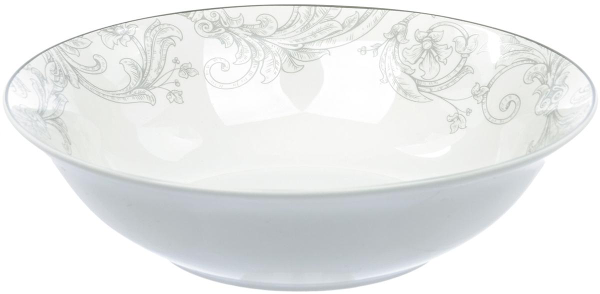 """Салатница Dasen """"Классика"""", изготовленная из высококачественного фаянса,  предназначена для красивой подачи различных блюд. Изделие оформлено изящным  рисунком.  Такая салатница украсит сервировку стола и подчеркнет прекрасный вкус  хозяйки. Можно мыть в посудомоечной машине и использовать в микроволновой печи."""
