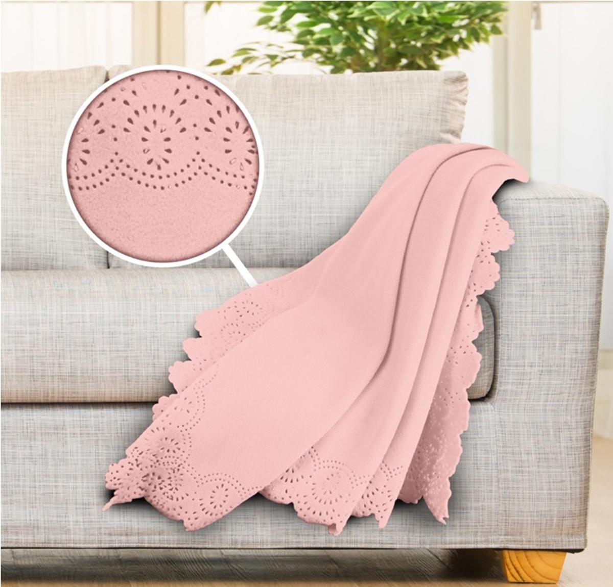 Плед Cozy Home Estel, флисовый, цвет: розовый, 130 х 170 см423716