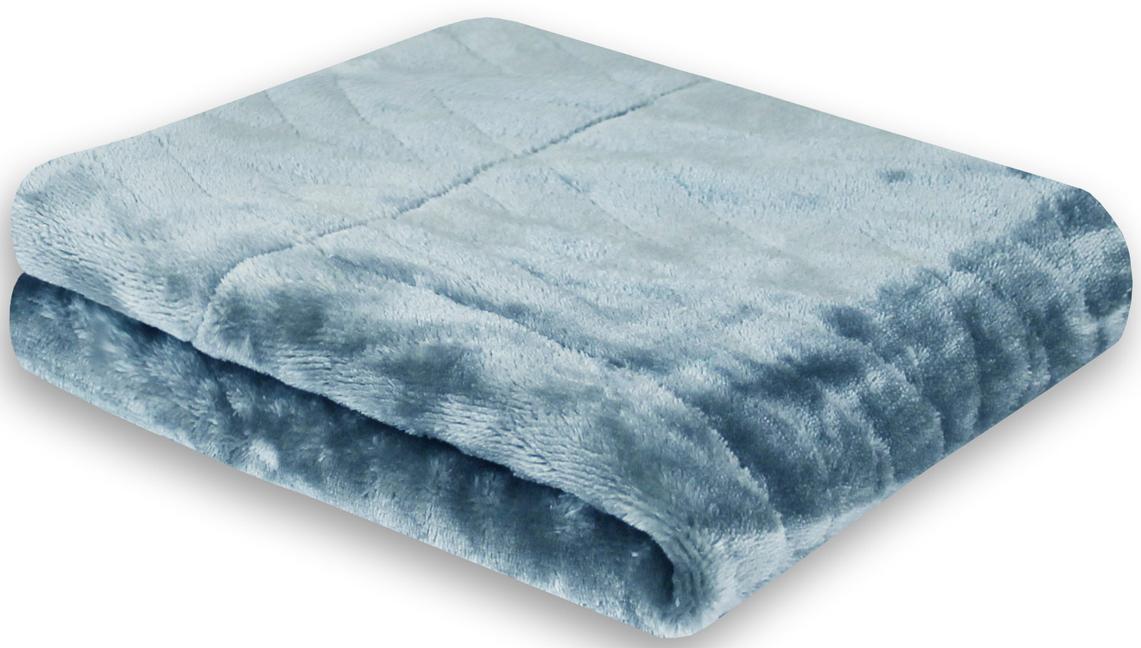 Покрывало Cozy Home Gazotti, двустороннее, цвет: голубой, 150 х 200 см02703