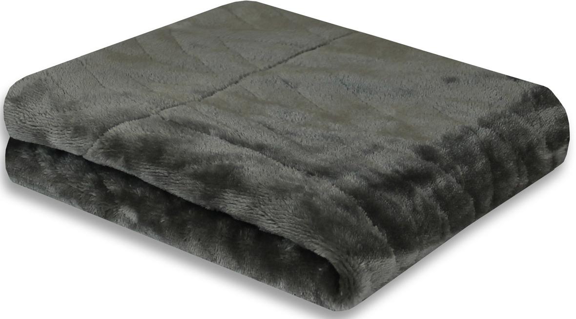 Покрывало Cozy Home Gazotti, двустороннее, цвет: серый, 150 х 200 см150/072-OP