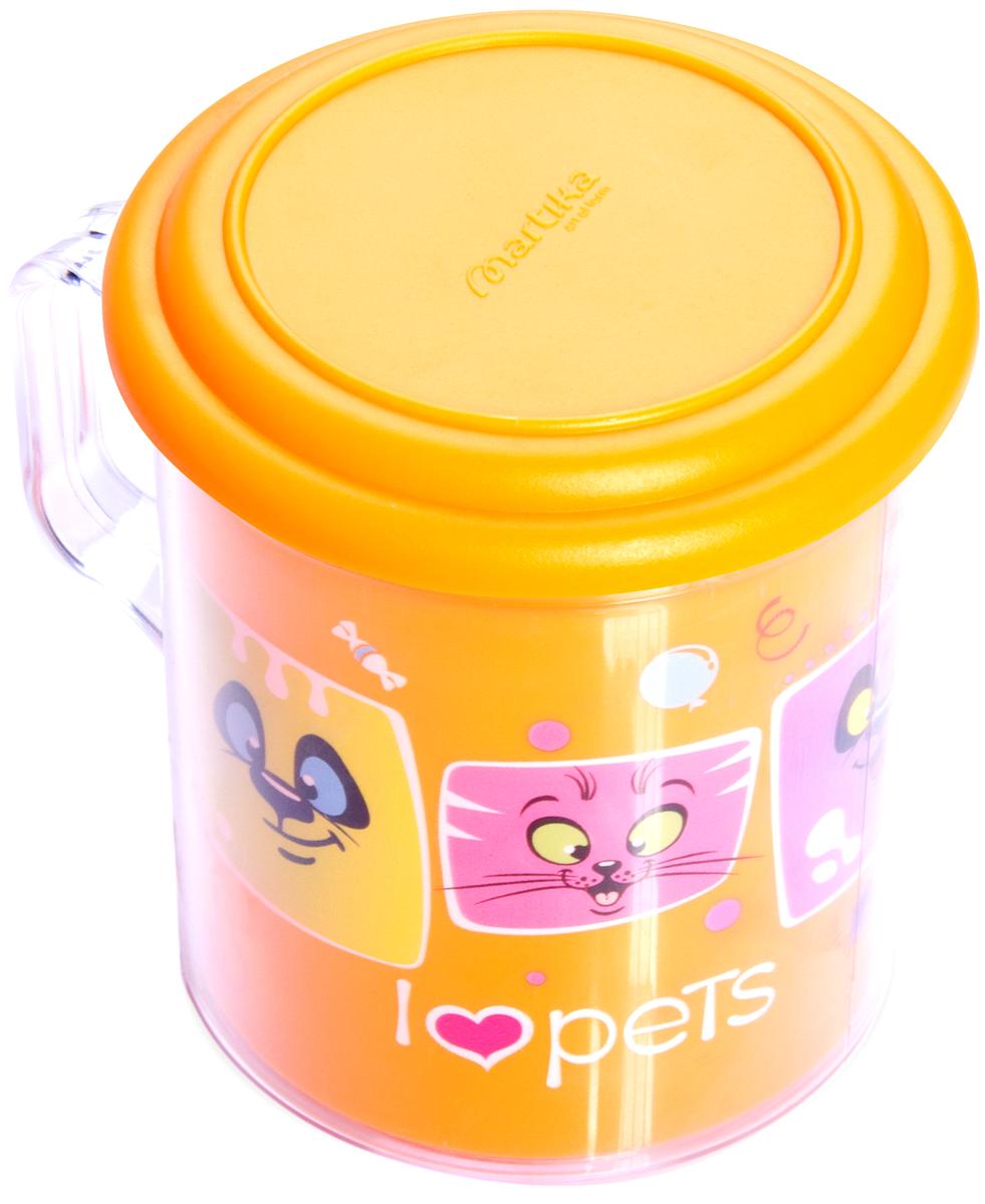 Термокружка Мартика Любимые животные, с крышкой, 0.4 л, цвет: оранжевый. С593ОРЖС593ОРЖИзделие выполнено с соблюдением необходимых требований к качеству и безопасности, включая санитарные, которые предъявляются к пластиковой продукции. Удобно в обращении. Имеет яркие цвета, привлекательный современный дизайн и высокий запас прочности. Материалы, используемые при производстве, отвечают всем необходимым санитарным нормам и стандартам качества и разрешены для контакта с пищевыми продуктами.