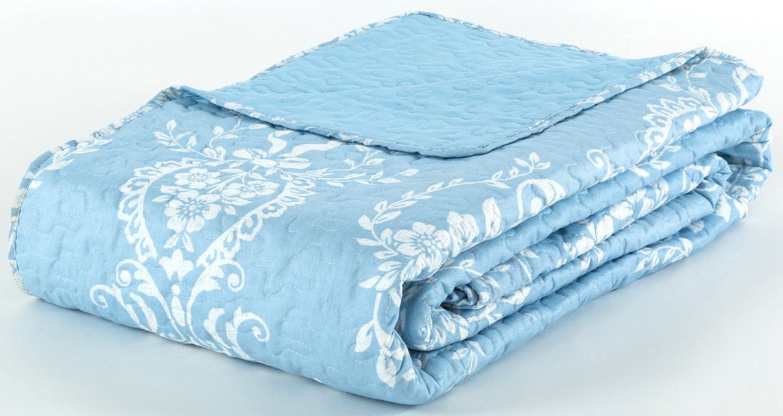 Покрывало Cozy Home Венеция, стеганое, цвет: белый, голубой, 230 х 250 см404809
