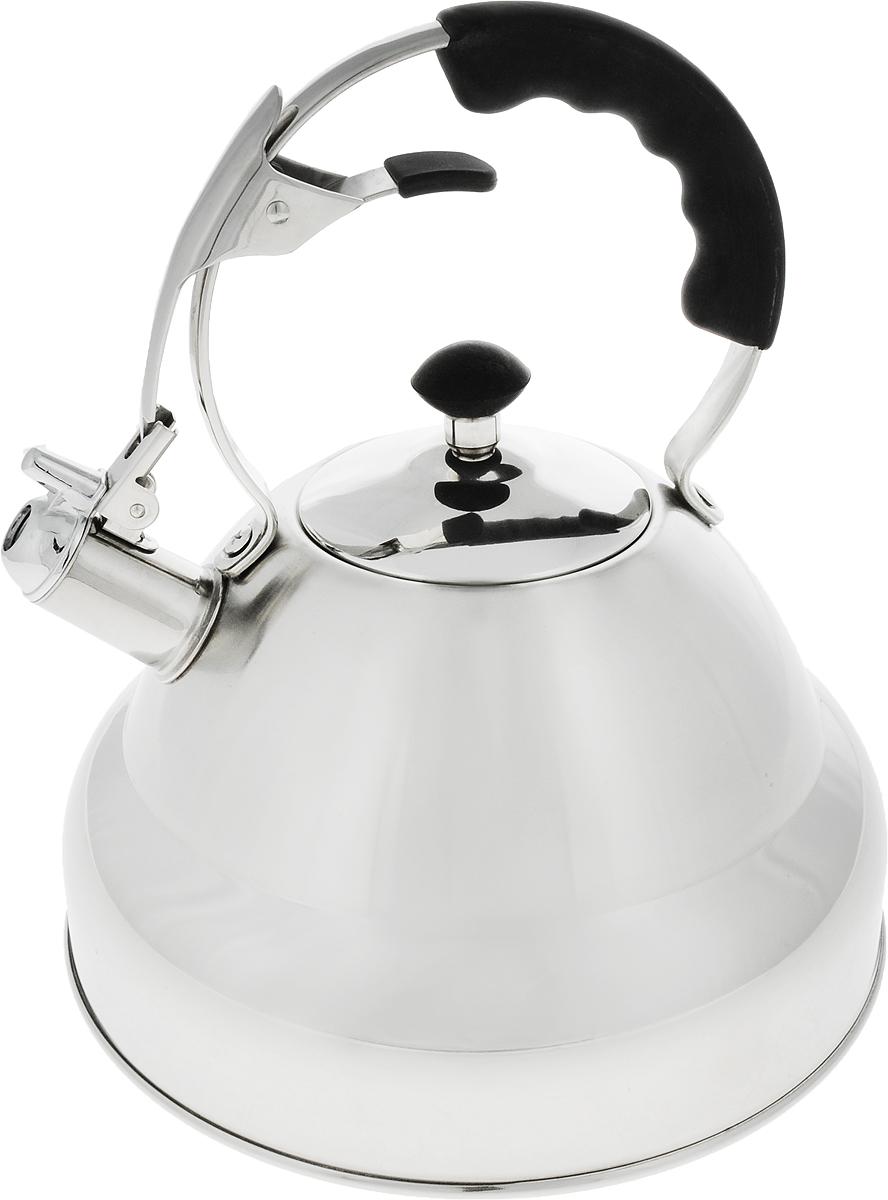 Чайник Carl Schmidt Sohn Aquatic, со свистком, цвет: серый металлик, 5 л058425Чайник AQUATIC 5 л со свистком изготовлен из высококачественной нержавеющей стали. Классическое покрытие подходит для большинства кухонь и Вы сможете использовать чайник на всех типах варочных поверхностей (в том числе индукционных). В подарочной коробке