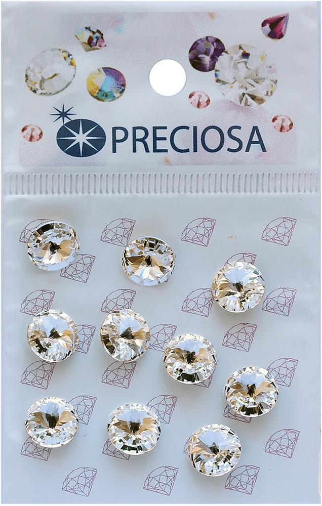 Риволи Preciosa Crystal SS39, 10 шт551760Риволи Preciosa используются в качестве декоративного украшения, для декорирования одежды, аксессуаров и т.д. Риволи Preciosa имеют свой неповторимый блеск и изящество.