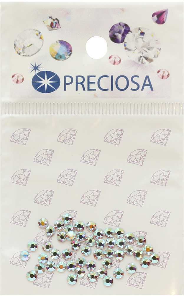 Стразы термоклеевые Preciosa Crystal АВ SS10, 50 шт swarovski crystals topaz 203 crystal with foiled flat back ss10 x 1440pcs