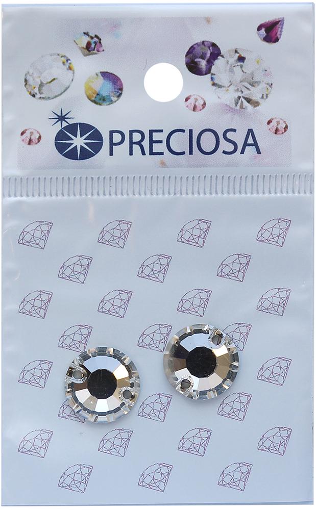 Стразы пришивные Preciosa Вива Crystal, 2 отверстия, 12 мм, 2 шт551794Стразы Preciosa на сегодняшний день – один из лучших мировых производителей изделий из хрусталя. Продукция этой компании широко известна и любима во всем мире. А благодаря своей особой технологии производства, отличной от технологии Swarovski, получаются шикарные и роскошные изделия, внешне аналогичные изделиям из настоящих драгоценных камней.