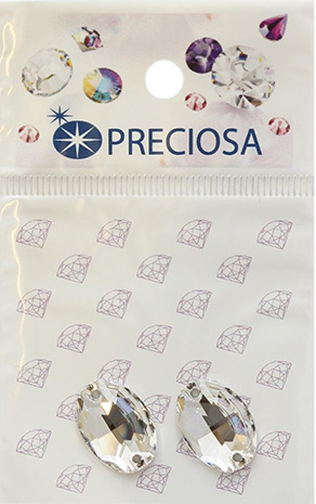 Стразы пришивные Preciosa Овал Crystal, 2 отверстия, 16 x 11 мм, 2 шт551795Стразы Preciosa на сегодняшний день – один из лучших мировых производителей изделий из хрусталя. Продукция этой компании широко известна и любима во всем мире. А благодаря своей особой технологии производства, отличной от технологии Swarovski, получаются шикарные и роскошные изделия, внешне аналогичные изделиям из настоящих драгоценных камней.