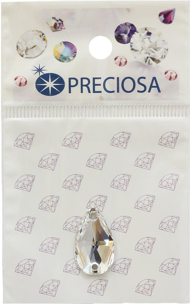 Стразы пришивные Preciosa Груша Crystal, 2 отверстия, 18 х 10,5 мм, 1 шт551798Стразы Preciosa на сегодняшний день – один из лучших мировых производителей изделий из хрусталя. Продукция этой компании широко известна и любима во всем мире. А благодаря своей особой технологии производства, отличной от технологии Swarovski, получаются шикарные и роскошные изделия, внешне аналогичные изделиям из настоящих драгоценных камней.