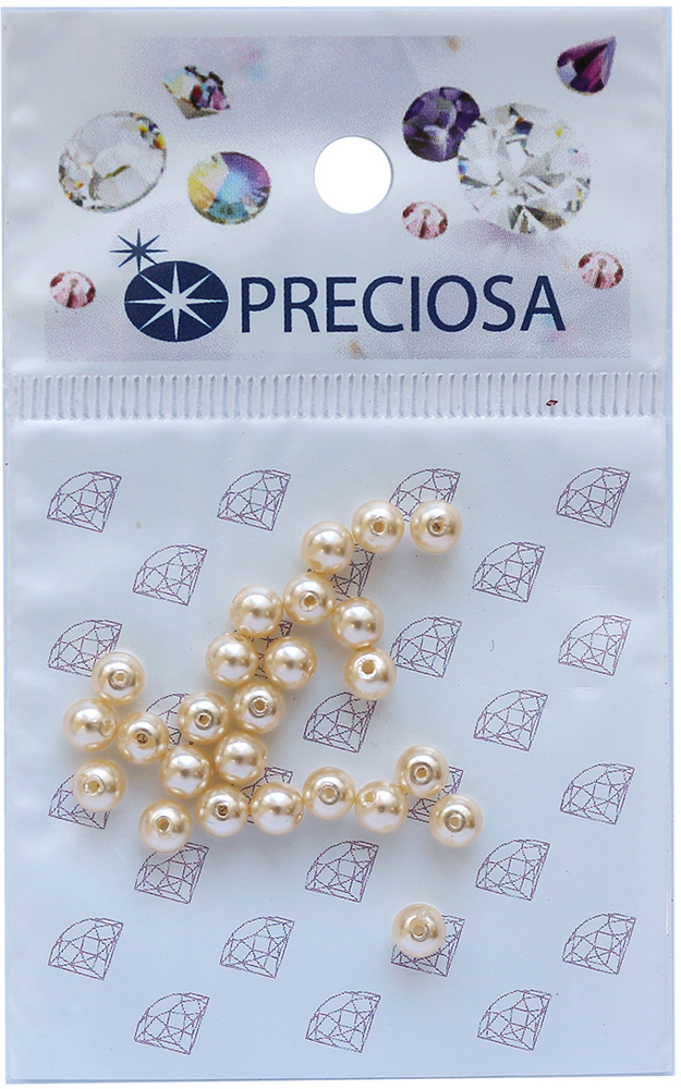 Хрустальный жемчуг Preciosa Cream, цвет: бежевый, 4 мм, 25 шт хрустальный жемчуг preciosa white 4 мм 25 шт