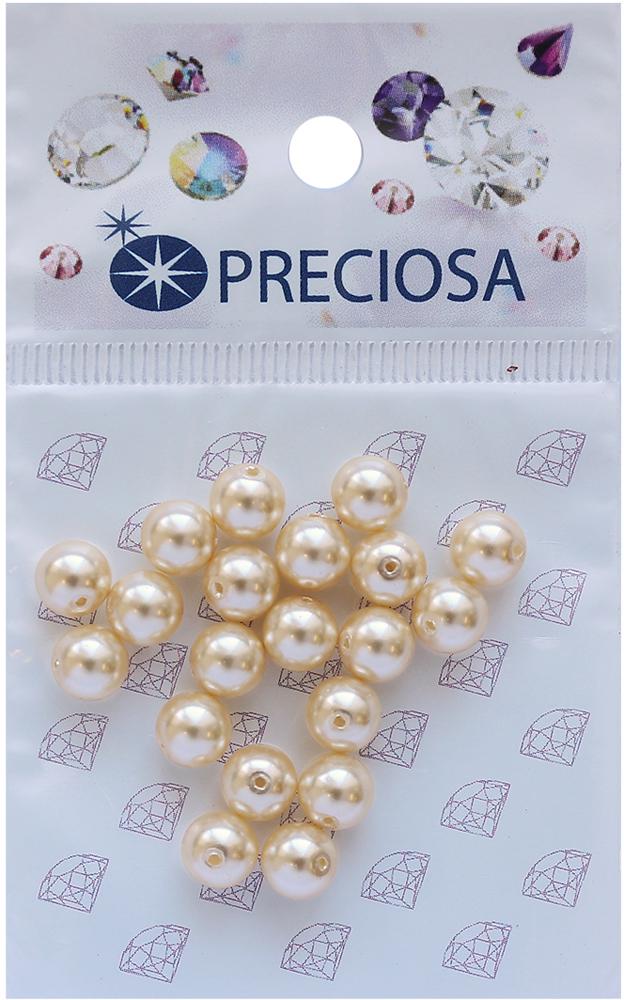 Хрустальный жемчуг Preciosa Cream, 6 мм, 20 шт хрустальный жемчуг preciosa white 4 мм 25 шт