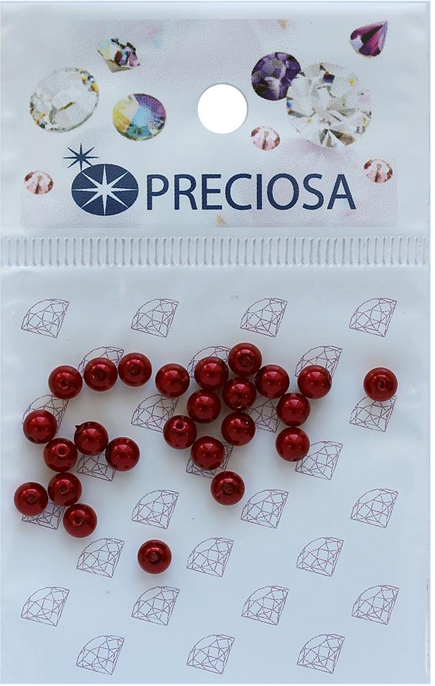 Хрустальный жемчуг Preciosa Red, 4 мм, 25 шт хрустальный жемчуг preciosa white 4 мм 25 шт