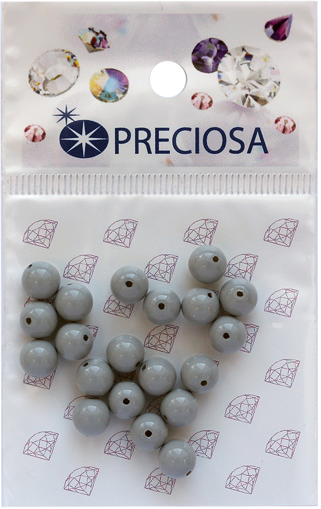 Хрустальный жемчуг Preciosa Ceramic Grey, 6 мм, 20 шт551807Хрустальный жемчуг Preciosa, изготовленный из стекла круглой формы, позволит вам своими руками создать оригинальные ожерелья, бусы или браслеты, а также заняться вышиванием. В бисероплетении часто используют бисер разных размеров и цветов. Он идеально подойдет для вышивания на предметах быта и женской одежде. Жемчуг чешского производства Preciosa обладает высоким качеством, однороден по форме и размеру, откалиброван.