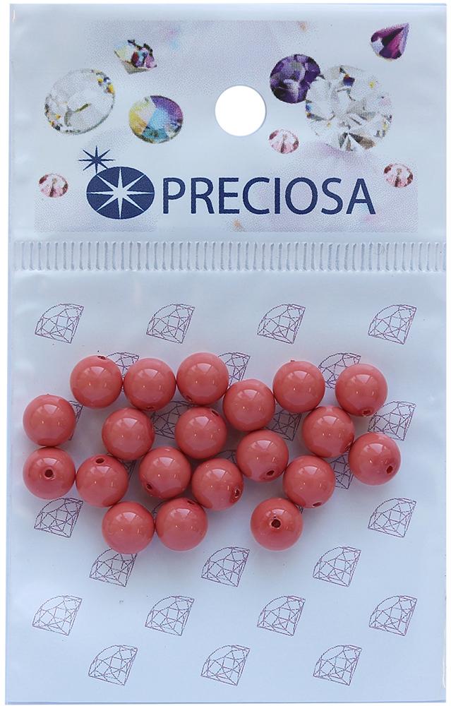 Хрустальный жемчуг Preciosa Salmon Rose, цвет: коралловый, диаметр 6 мм, 20 шт хрустальный жемчуг preciosa white 4 мм 25 шт