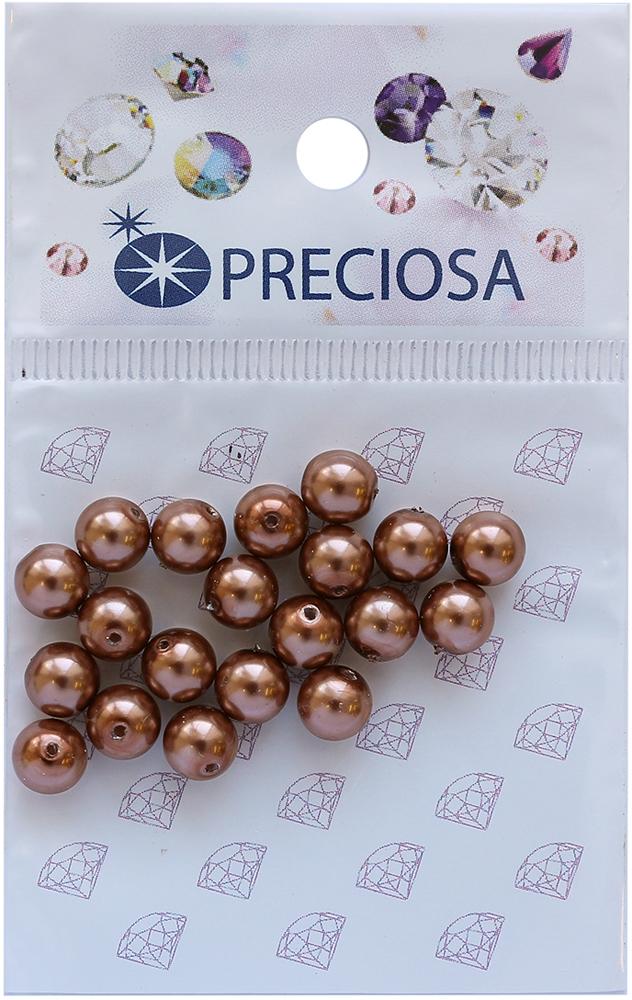 Хрустальный жемчуг Preciosa Bronze, 6 мм, 20 шт551812Хрустальный жемчуг Preciosa, изготовленный из стекла круглой формы, позволит вам своими руками создать оригинальные ожерелья, бусы или браслеты, а также заняться вышиванием. В бисероплетении часто используют бисер разных размеров и цветов. Он идеально подойдет для вышивания на предметах быта и женской одежде. Жемчуг чешского производства Preciosa обладает высоким качеством, однороден по форме и размеру, откалиброван.