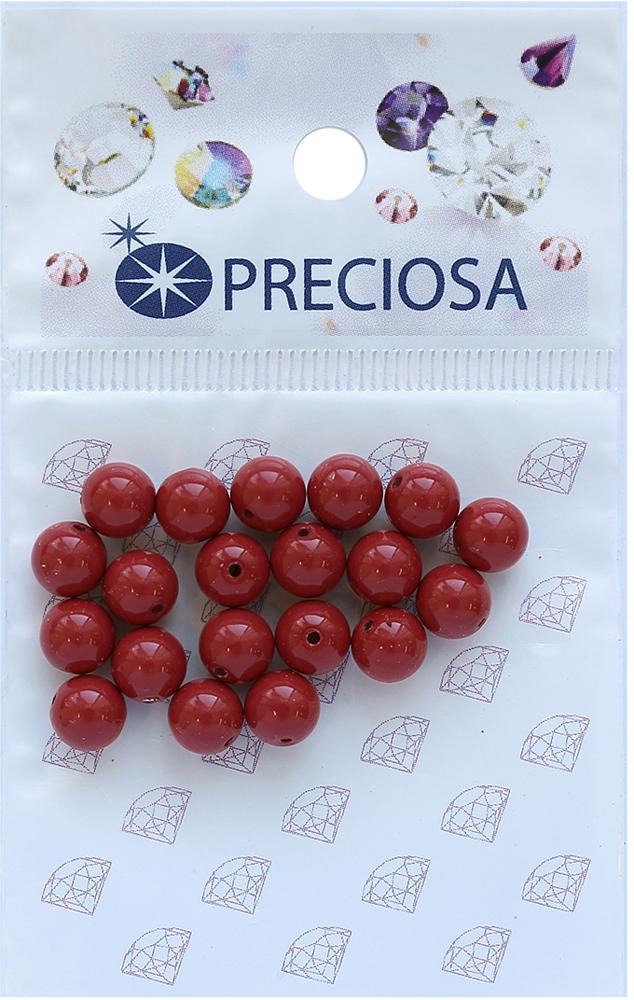 Хрустальный жемчуг Preciosa Cranberry, 6 мм, 20 шт хрустальный жемчуг preciosa white 4 мм 25 шт