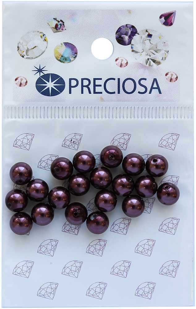 Хрустальный жемчуг Preciosa Light Burgundy, цвет: фиолетовый, 6 мм, 20 шт хрустальный жемчуг preciosa white 4 мм 25 шт