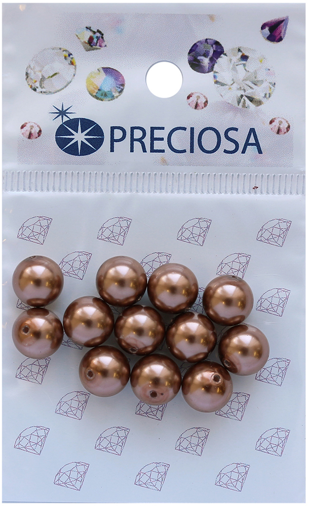 Хрустальный жемчуг Preciosa Bronze, 8 мм, 12 шт551816Хрустальный жемчуг Preciosa, изготовленный из стекла круглой формы, позволит вам своими руками создать оригинальные ожерелья, бусы или браслеты, а также заняться вышиванием. В бисероплетении часто используют бисер разных размеров и цветов. Он идеально подойдет для вышивания на предметах быта и женской одежде. Жемчуг чешского производства Preciosa обладает высоким качеством, однороден по форме и размеру, откалиброван.