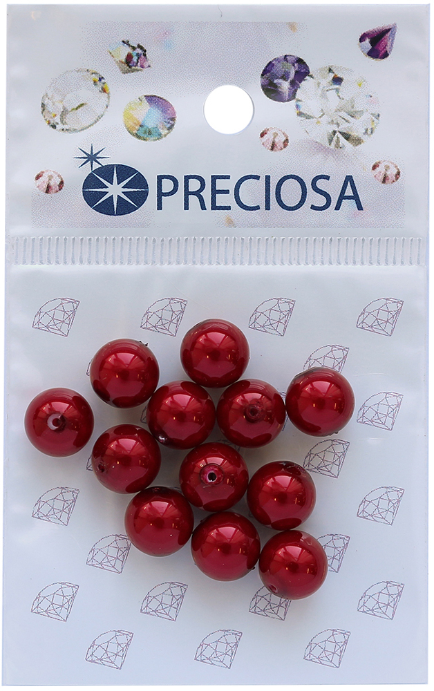 Хрустальный жемчуг Preciosa Red, 8 мм, 12 шт хрустальный жемчуг preciosa white 4 мм 25 шт