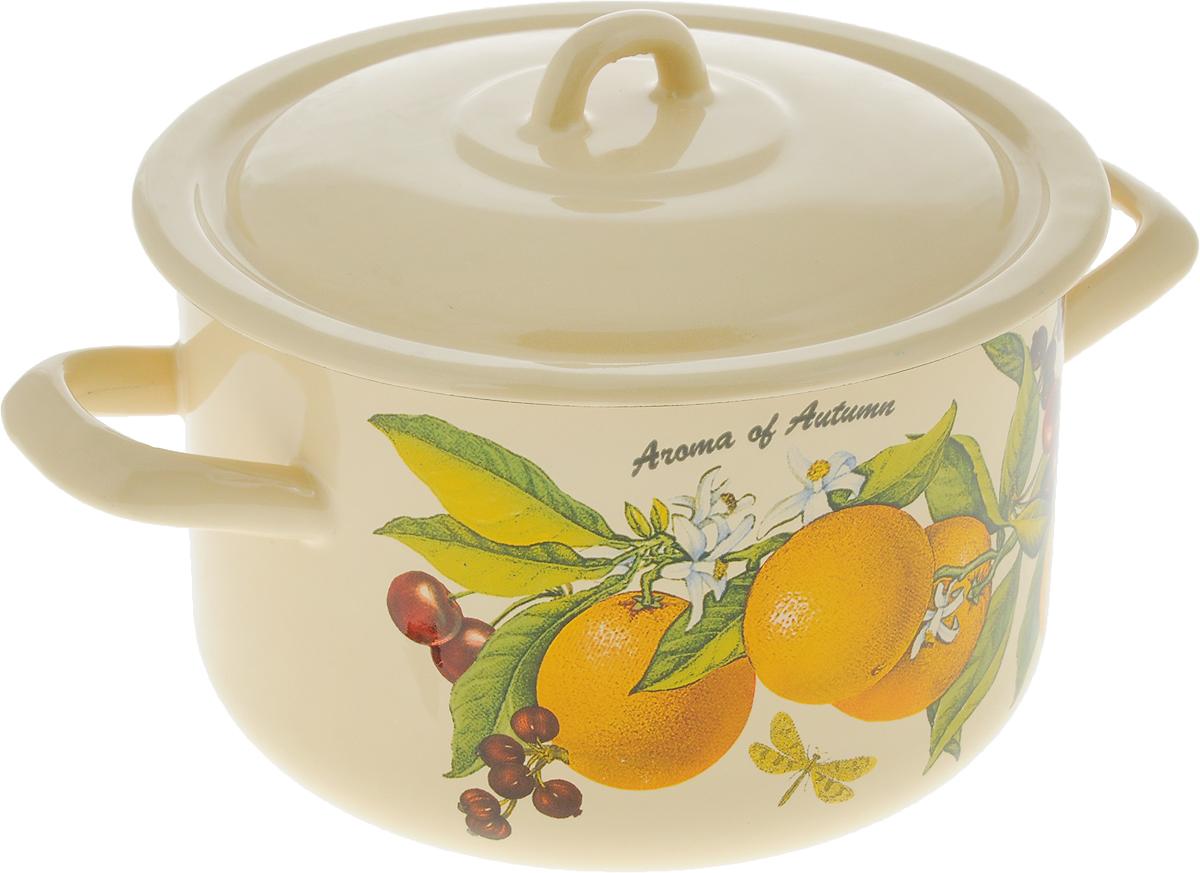 Кастрюля Спецторг Апельсин с крышкой, цвет: желтый, 2,9 лС-16111/4КмЭ_желтый, АпельсинКастрюля изготовлена из высококачественной стали, покрытой стеклокерамической эмалью. Эмаль устойчива к пищевым кислотам, не вступает во взаимодействие с продуктами и не искажает их вкусовые качества.Посуда оснащена эргономичными ручками и крышкой, изготовленными из того же материала, что и сама кастрюля.Кастрюля предназначена для тепловой обработки продуктов, приготовления холодных блюд и хранения пищи.Можно использовать на всех типах плит, включая индукционные. Можно мыть в посудомоечной машине.Высота стенки: 11,5 см.Внутренний диаметр кастрюли (по верхнему краю): 18 см.Ширина (с учетом ручек): 26,5 см.