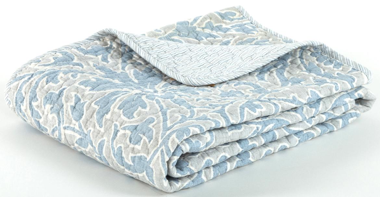 Покрывало Cozy Home Верона стеганое, цвет: серый, голубой, 160 х 220 см404810