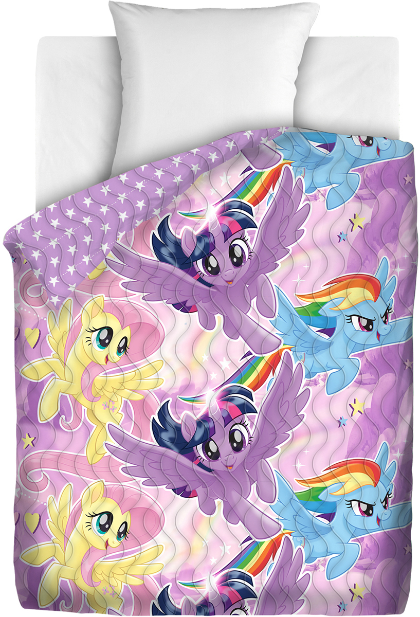 Покрывало Непоседа My Little Pony. Небесные пони, стеганое, 145 х 200 см покрывало детское непоседа непоседа покрывало star wars стеганое чубакка