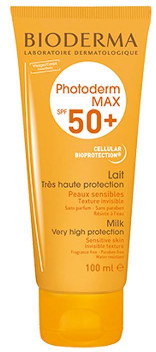 Bioderma Молочко SPF 50+ Фотодерм Max, 100 мл28560Максимально эффективное сочетание фильтров анти-УФА и анти-УФВ в креме Фотодерм МАХ надежно защищают от солнечного ожога, предупреждают непереносимость солнечных лучей и борются с преждевременным старением кожи.Уменьшая риск повреждения клеток, запатентованный комплекс Клеточная Биозащита®, обеспечивает оптимальную защиту структур клетки от агрессивных воздействий