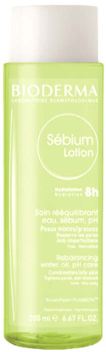 Bioderma Лосьон Себиум, 200 мл гели bioderma гель гуммирующий глубокоочищающий себиум 100мл