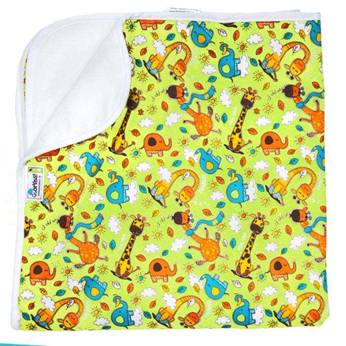 GlorYes! Впитывающая пеленка Жирафы 80 х 68 см - Подгузники и пеленки