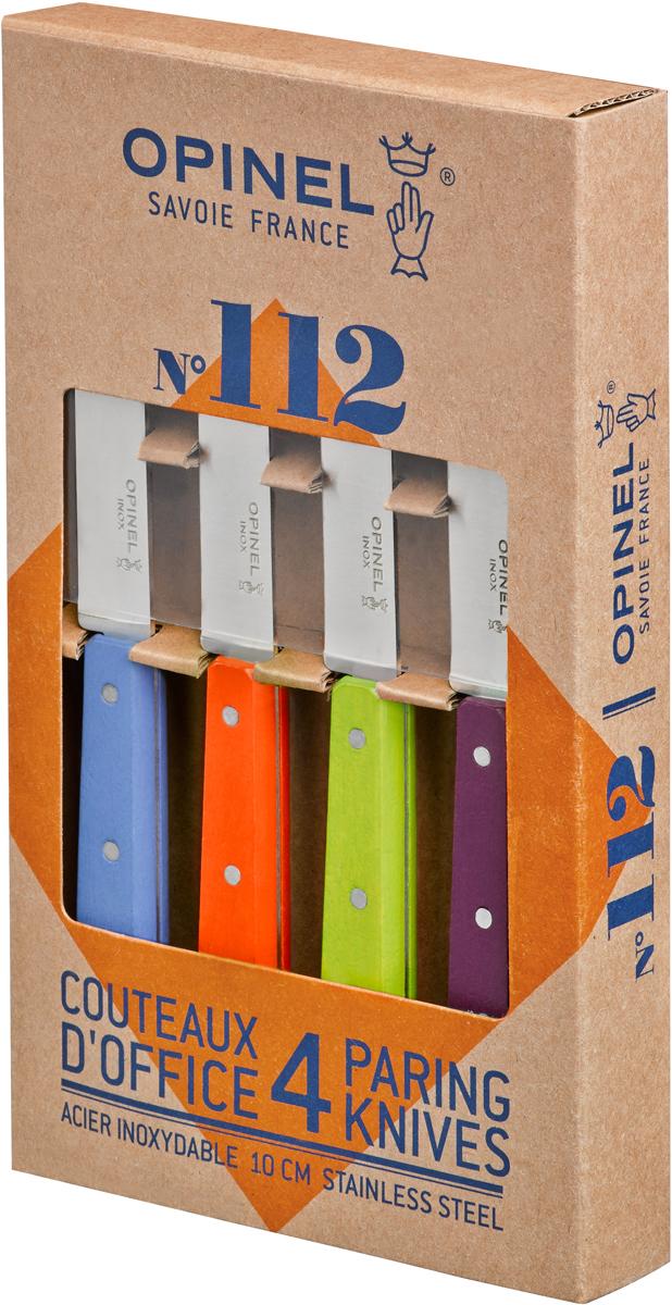 Набор ножей для нарезки Opinel Les Essentiels Primarosa, длина лезвия 10 см, 4 шт1381Коллекция Les Essentiels – это наборы ножей, которые необходимы для ежедневного использования на кухне. Все лезвия сделаны из нержавеющей стали Sandvik™ 12С27. Рукоятки ножей выполнены из натурального Бука. Набор из 4-х универсальных ножей Opinel N°112 c лезвием 9.5 см, которые идеально подходят для очистки и резки овощей, фруктов, а также для разделывания мяса, птицы, дичи. Ножи не предназначены для рубки костей, а также для замороженных продуктов.Лезвия сделаны из нержавеющей стали Sandvik™ 12С27. Рукоятки ножей выполнены из натурального Бука. Яркие цвета рукояток добавят перчинки процессу приготовления любимых блюд. Чтобы ножи служили долгие годы эксперты Opinel не рекомендуют мыть ножи в посудомоечной машине, так как это существенно влияет на срок их службы:- из-за сильного напора воды во время работы посудомоечной машины ножи под давлением соприкасаются с другими столовыми приборами — это может привести к механическим повреждениям и затуплению лезвий;- во время загрузки и выгрузки ножей в отсек для столовых приборов крайне высока вероятность повреждения лезвия при контакте инструментов друг с другом;- многие ножи Opinel оснащены рукоятками из натурального дерева, которое теряет свои свойства при мытье в посудомоечной машине.- на длительность срока службы ножей также влияет использование едких моющих средств, которые разъедают сталь и затупляют лезвие, а также очень высокая температура воды в посудомоечной машине.