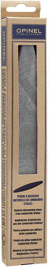 Камень точильный Opinel, цвет: серый, 24 см1540При активном использовании даже самые острые клинки могут затупиться. Для того, чтобы вернуть ножам Opinel былую остроту, эксперты бренда предлагают точить их натуральным точильным камнем. Натуральный точильный камень — это универсальный вариант для обработки лезвий любых типов. Компактные размеры позволяют удобно хранить камень и при необходимости брать с собой. Этот надежный аксессуар поможет держать любые ножи в полной рабочей готовности.