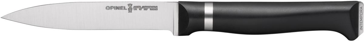 Нож кухонный Opinel Intempora, длина лезвия 10 см. 15641564Нож Opinel Intempora отлично подходит для очистки и нарезания овощей и фруктов, а также для разделывания мяса. Не подходит для рубки костей и замороженных продуктов. Эргономичная ручка из полимерного материала предотвращает выскальзывание во время использования.