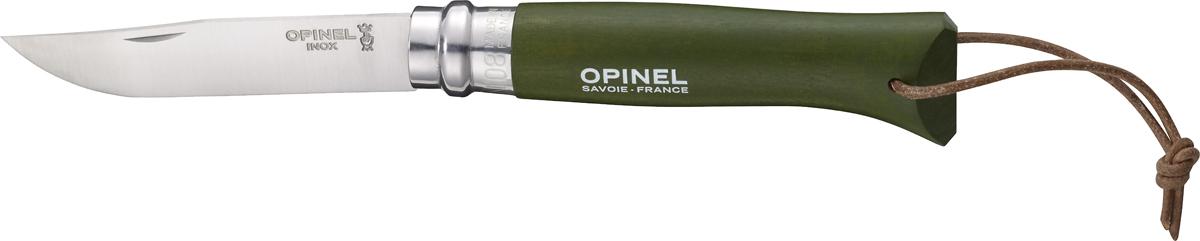 Нож складной Opinel Origins, цвет: оливковый, длина лезвия 8 см1703Opinel Origins - классический складной нож с лезвием из модифицированной нержавеющей стали Sandvik 12C27. Короткий и острый клинок подходит для самых разных целей. Рукоятка выполнена из натурального дерева. Складной нож оснащен уникальным кольцевым фиксатором. С его помощью можно зафиксировать клинок как в открытом состоянии, так и в закрытом для безопасности использования и транспортировки.
