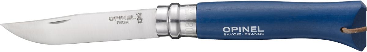Нож складной Opinel Origins, цвет: синий, длина лезвия 8 см1704Opinel Origins - классический складной нож с лезвием из модифицированной нержавеющей стали Sandvik 12C27. Короткий и острый клинок подходит для самых разных целей. Рукоятка выполнена из натурального дерева. Складной нож оснащен уникальным кольцевым фиксатором. С его помощью можно зафиксировать клинок как в открытом состоянии, так и в закрытом для безопасности использования и транспортировки.
