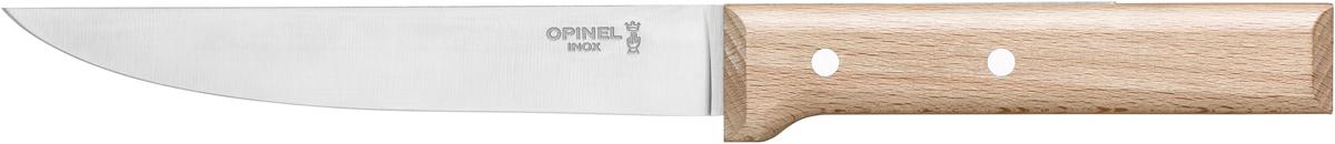 Нож разделочный Opinel Parallele, цвет: бежевый, длина лезвия 16 см1820Opinel Parallele - разделочный нож с удобной рукояткой из бука, которая не выскальзывает из рук во время работы. Он отлично подойдет для разделывания ростбифа, ягнёнка, птицы и дичи, а также для нарезания овощей и фруктов.