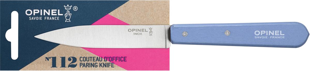 Нож для нарезки Opinel Les Essentiels, цвет: голубой, длина лезвия 10 см1917Универсальный нож Opinel N°112 c лезвием 9.5 см создан для очистки и резки овощей, фруктов, а также для разделывания мяса. Нож не предназначен для рубки костей, а также для замороженных продуктов. Коллекция Les Essentiels – это наборы ножей, которые необходимы для ежедневного использования на кухне. Все лезвия сделаны из нержавеющей стали Sandvik™ 12С27. Рукоятки ножей выполнены из натурального Бука. Яркий цвет рукоятки добавит искры процессу приготовления любимых блюд и подарит хорошее настроение.Чтобы ножи служили долгие годы эксперты Opinel не рекомендуют мыть ножи в посудомоечной машине, так как это существенно влияет на срок их службы:- из-за сильного напора воды во время работы посудомоечной машины ножи под давлением соприкасаются с другими столовыми приборами — это может привести к механическим повреждениям и затуплению лезвий;- во время загрузки и выгрузки ножей в отсек для столовых приборов крайне высока вероятность повреждения лезвия при контакте инструментов друг с другом;- многие ножи Opinel оснащены рукоятками из натурального дерева, которое теряет свои свойства при мытье в посудомоечной машине.- на длительность срока службы ножей также влияет использование едких моющих средств, которые разъедают сталь и затупляют лезвие, а также очень высокая температура воды в посудомоечной машине.