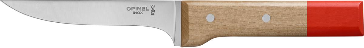 Нож для мяса Opinel Parallele, цвет: красный, длина лезвия 13 см2129Нож Opinel Parallele прекрасно подходит для быстрой и удобной нарезки мяса. Лезвие ножа выполнено из высококачественной нержавеющей стали особой прочности. Ручка ножа изготовлена из бука, эргономичная форма обеспечивает надежный хват.
